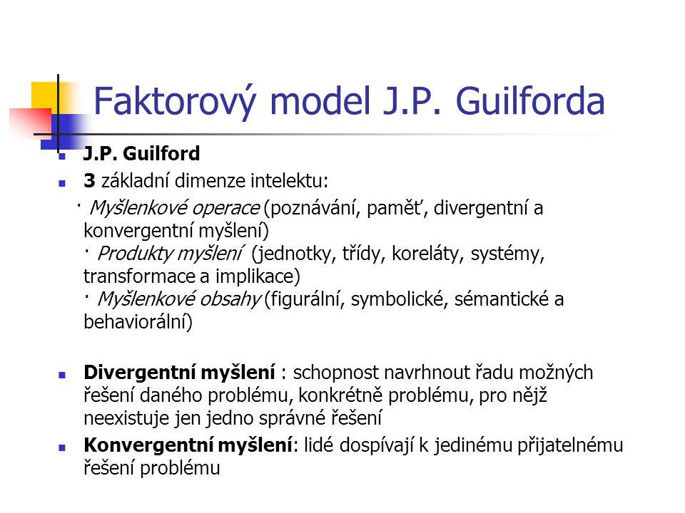 Faktorový model J.P. Guilforda