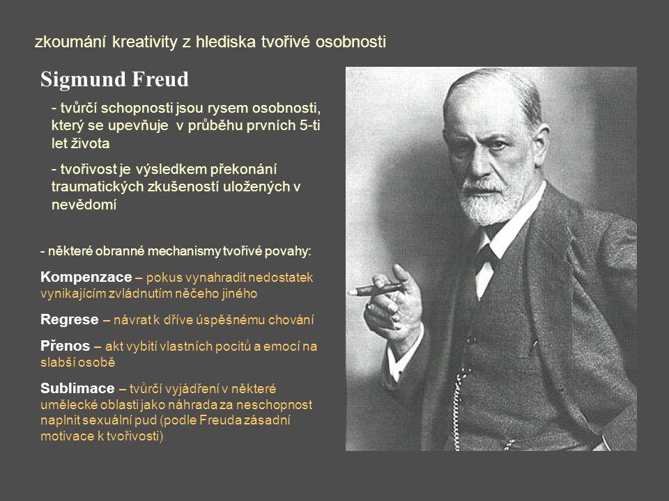 Sigmund Freud zkoumání kreativity z hlediska tvořivé osobnosti