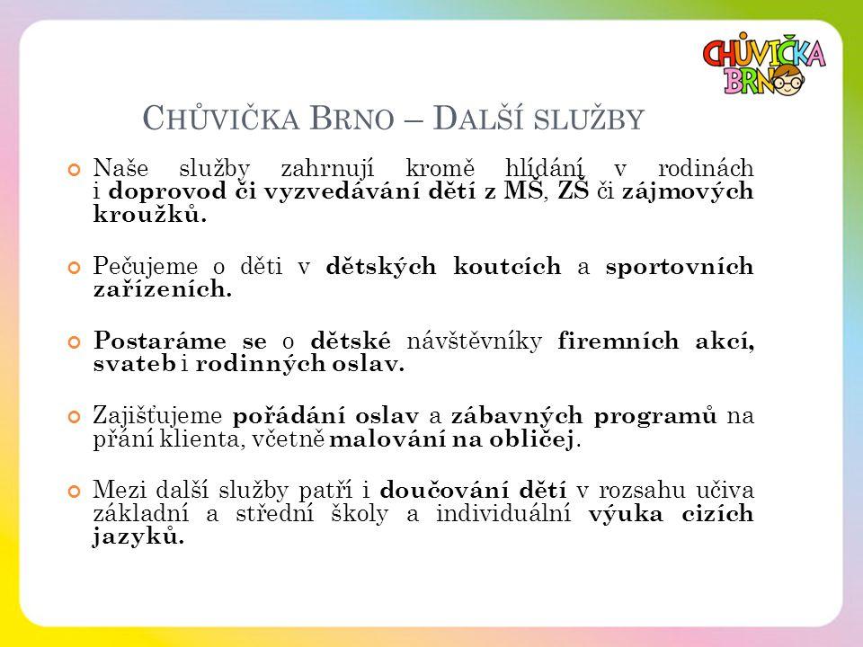 Chůvička Brno – Další služby