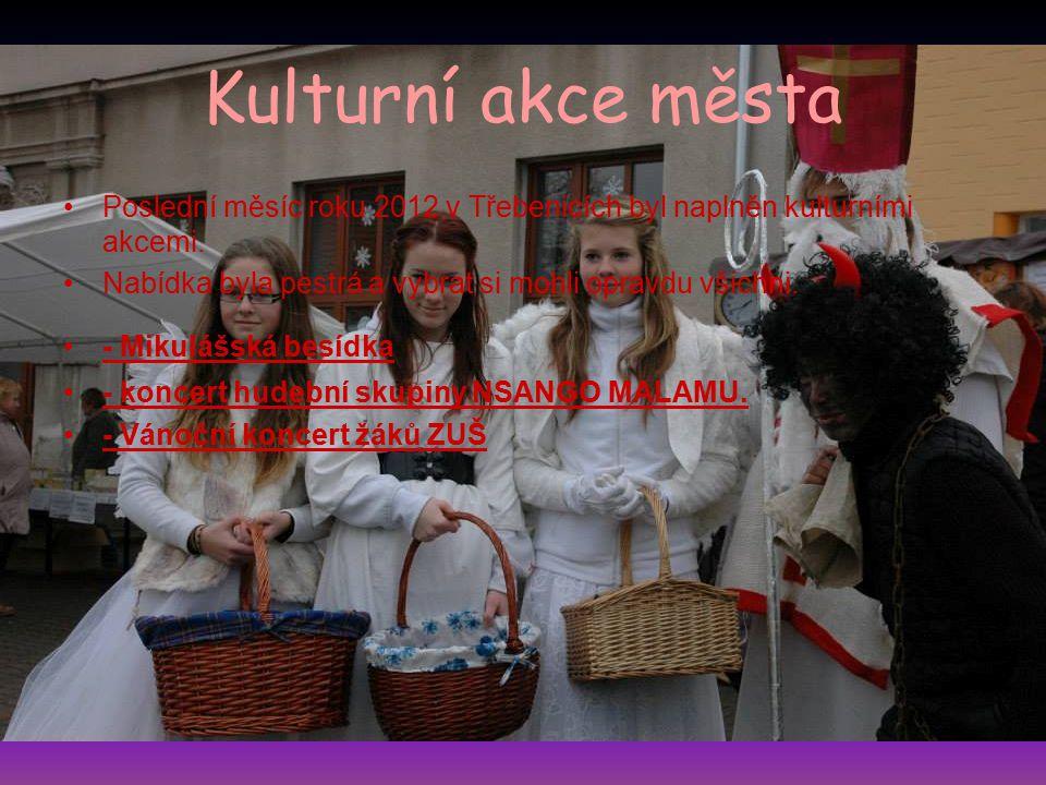 Kulturní akce města Poslední měsíc roku 2012 v Třebenicích byl naplněn kulturními akcemi. Nabídka byla pestrá a vybrat si mohli opravdu všichni.