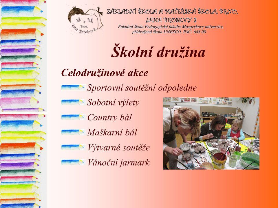 Školní družina Celodružinové akce Sportovní soutěžní odpoledne