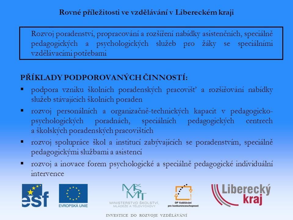 Rovné příležitosti ve vzdělávání v Libereckém kraji