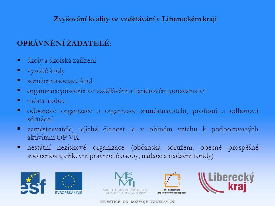Zvyšování kvality ve vzdělávání v Libereckém kraji
