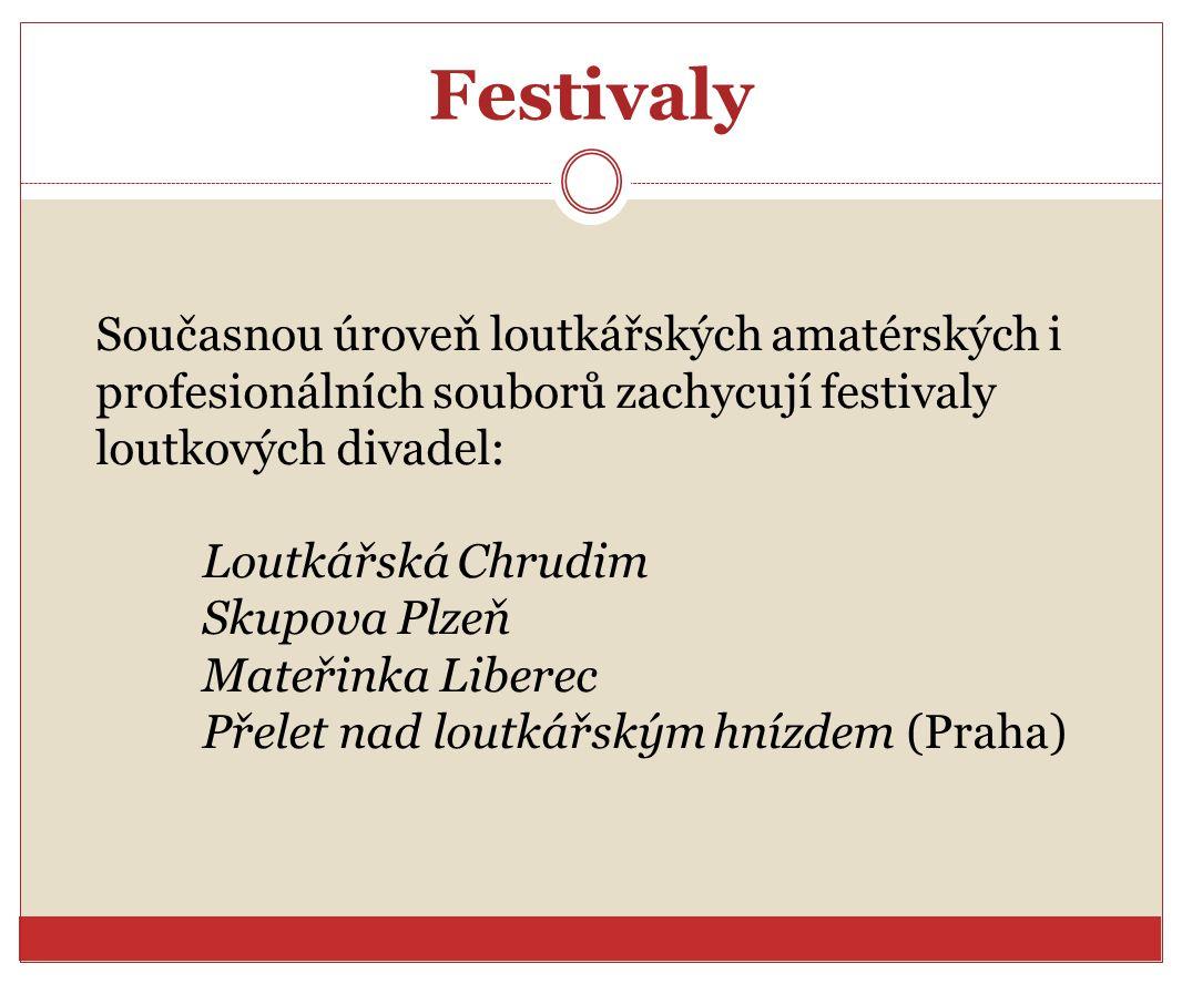 Festivaly Současnou úroveň loutkářských amatérských i