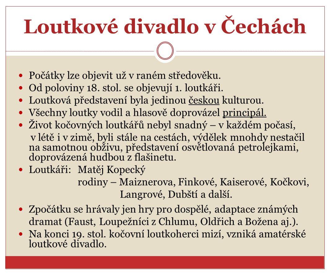 Loutkové divadlo v Čechách