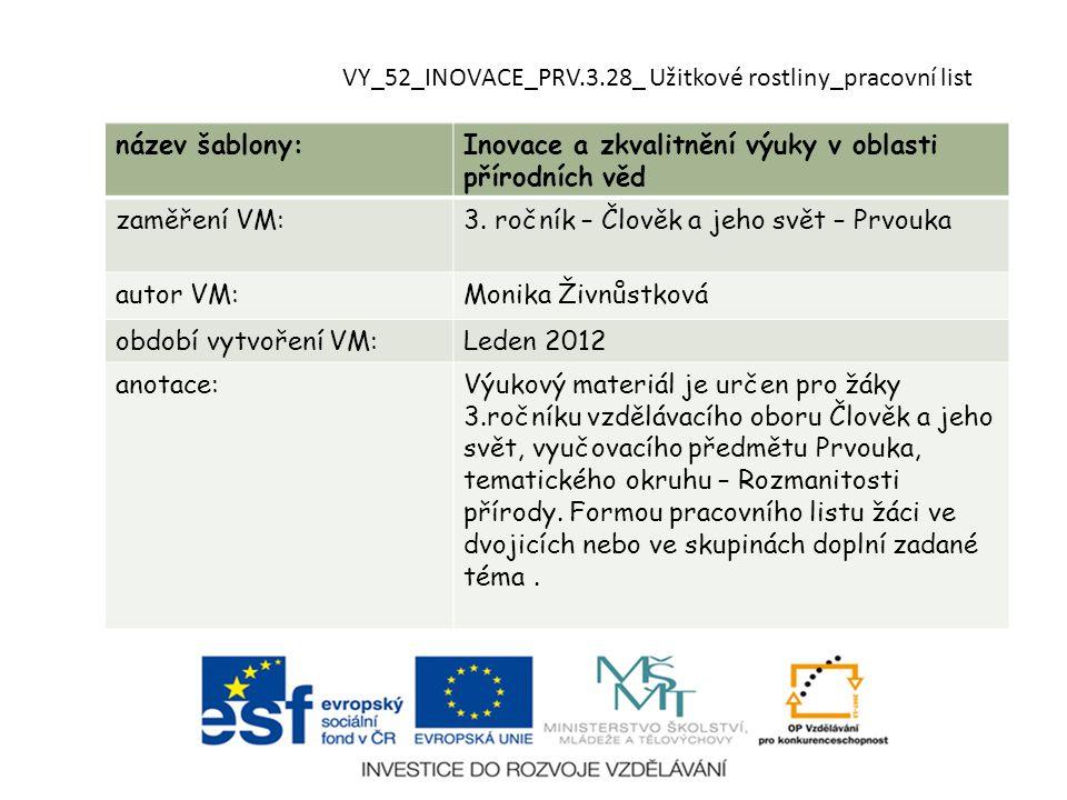 VY_52_INOVACE_PRV.3.28_ Užitkové rostliny_pracovní list