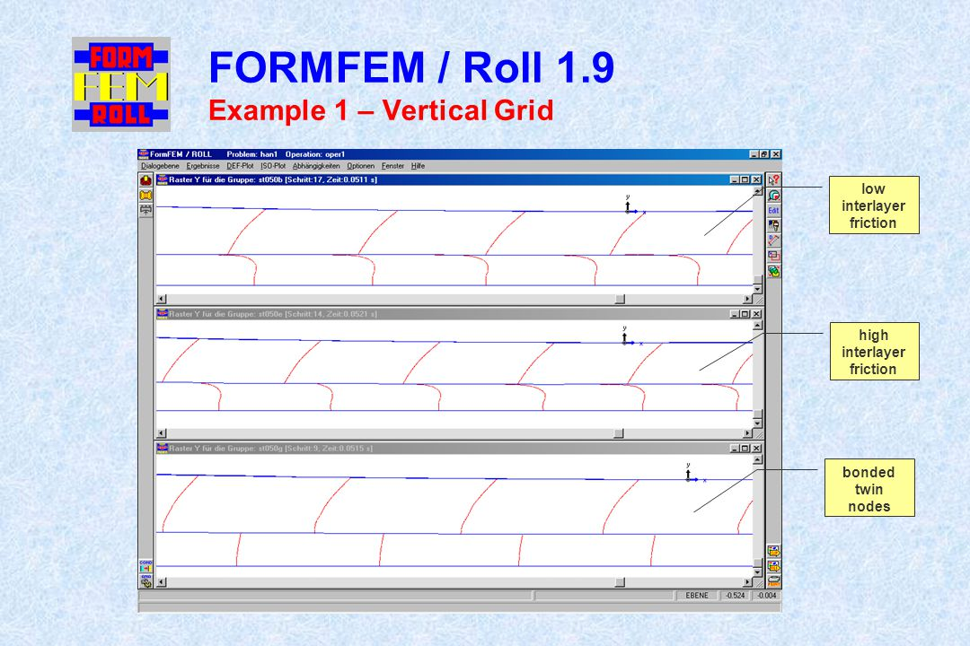 FORMFEM / Roll 1.9 Example 1 – Vertical Grid