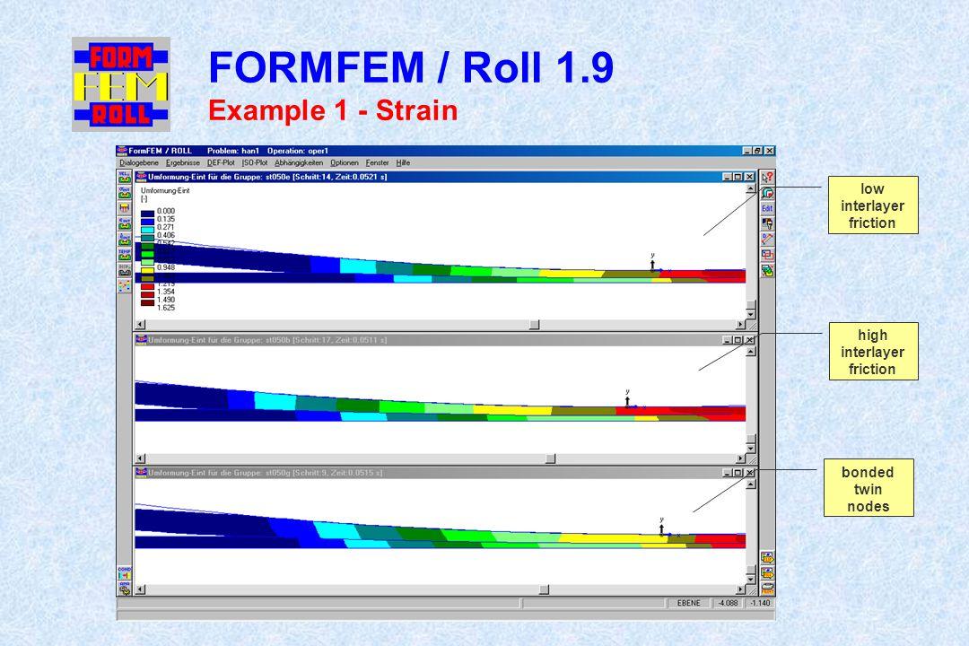 FORMFEM / Roll 1.9 Example 1 - Strain