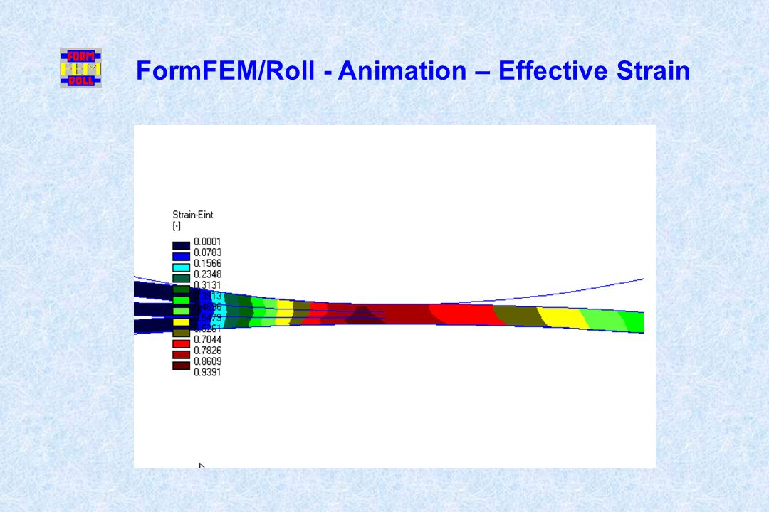 FormFEM/Roll - Animation – Effective Strain