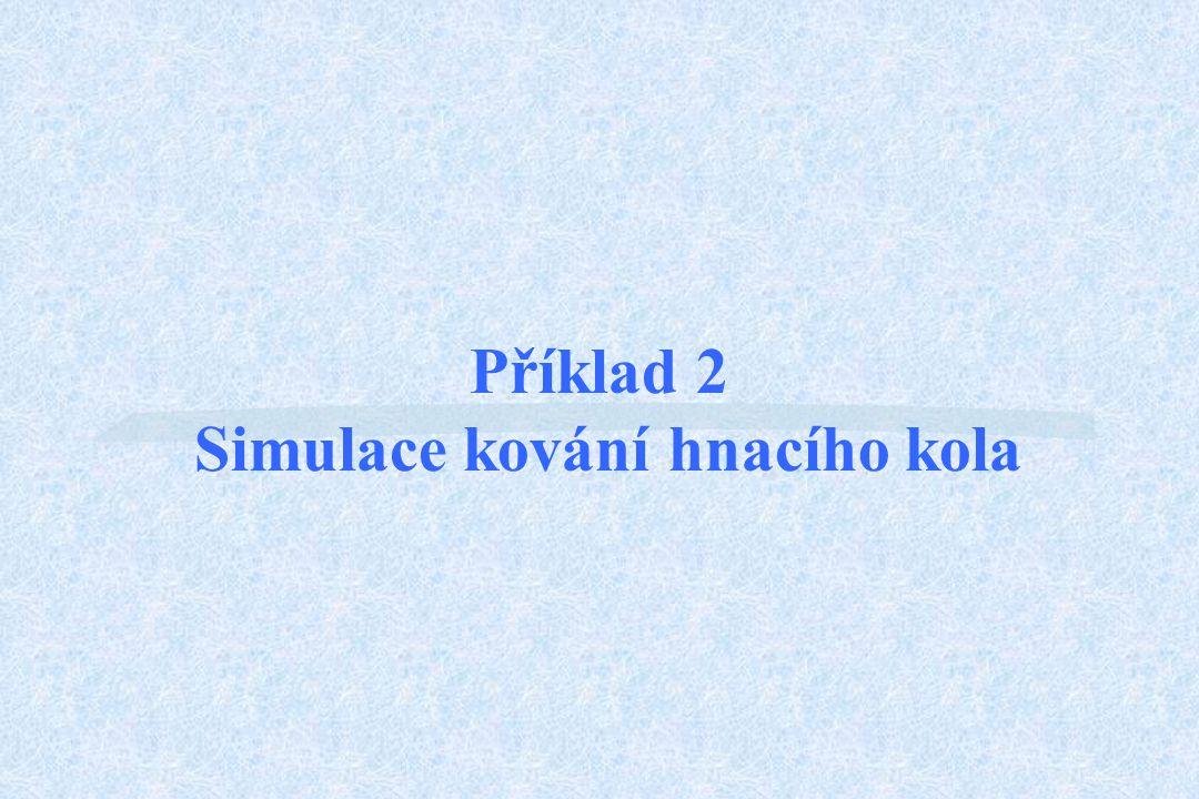 Příklad 2 Simulace kování hnacího kola