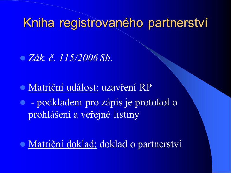 Kniha registrovaného partnerství