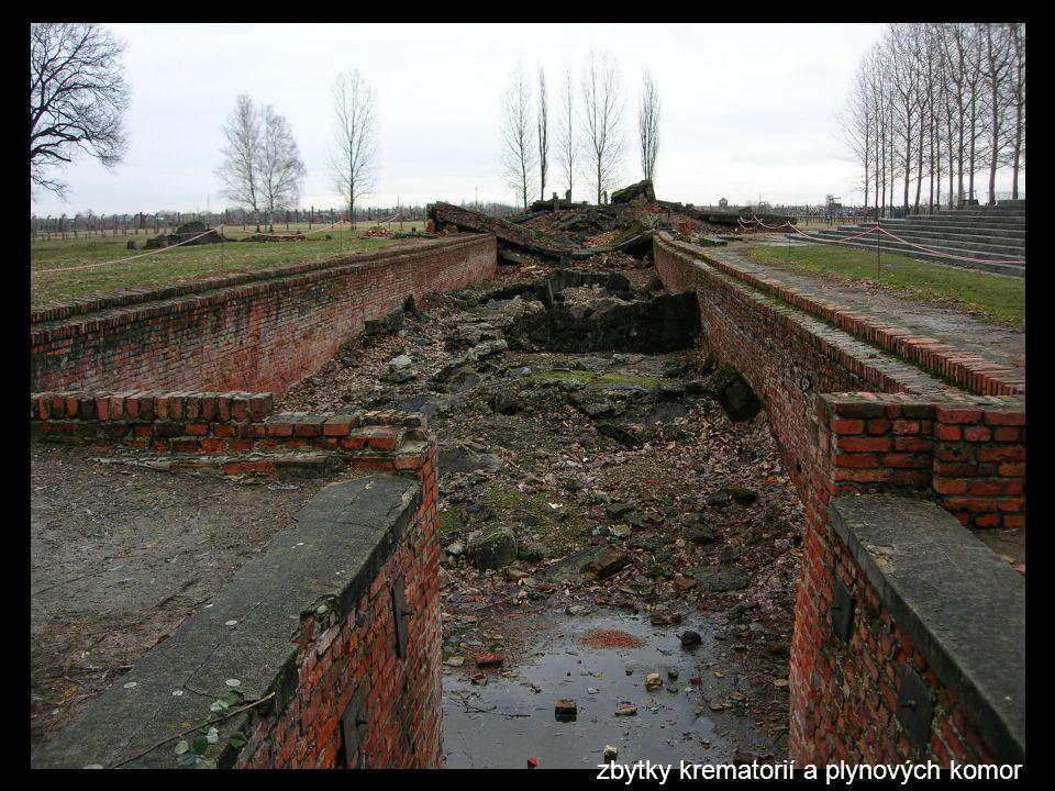 zbytky krematorií a plynových komor