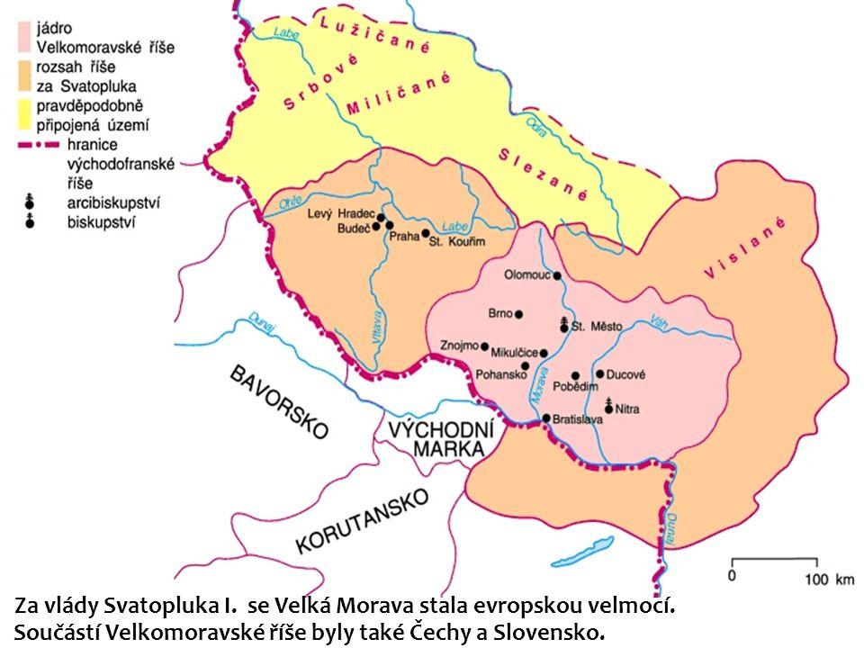 Za vlády Svatopluka I. se Velká Morava stala evropskou velmocí.