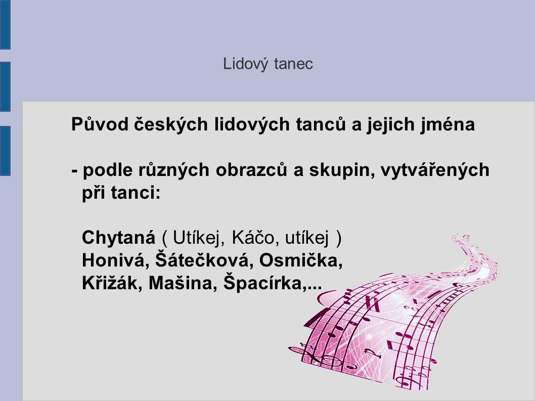 Původ českých lidových tanců a jejich jména
