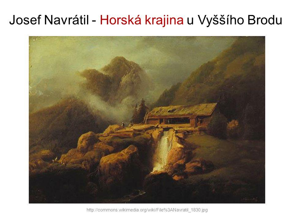 Josef Navrátil - Horská krajina u Vyššího Brodu