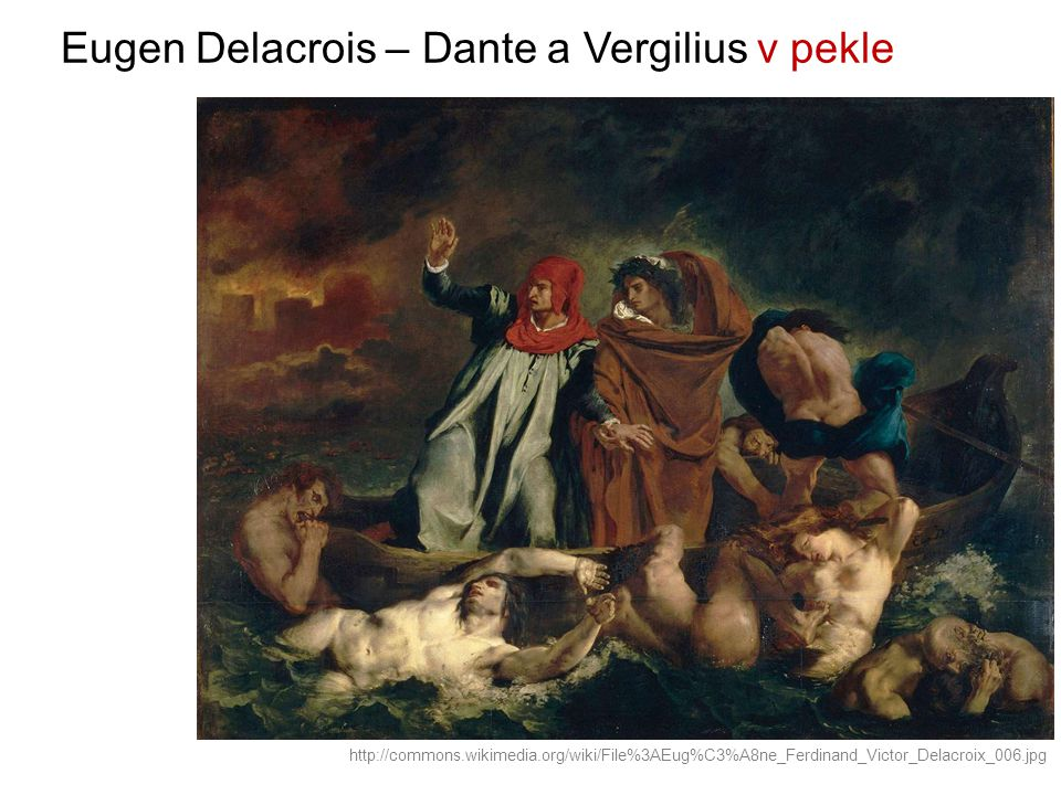 Eugen Delacrois – Dante a Vergilius v pekle