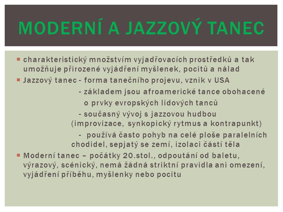 Moderní a jazzový tanec