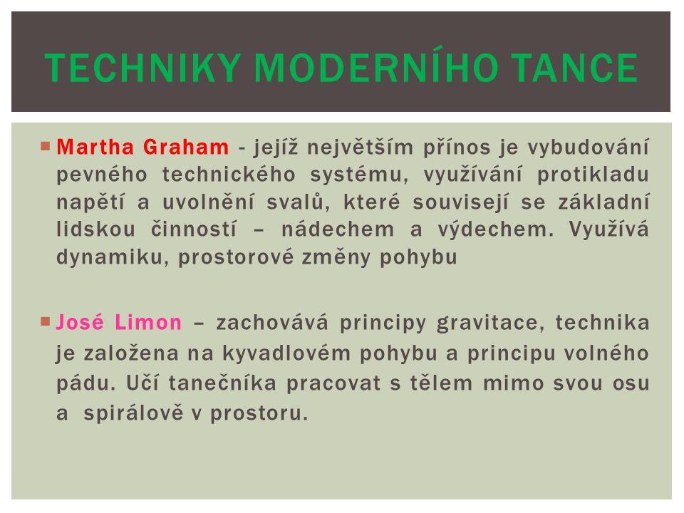 Techniky moderního tance
