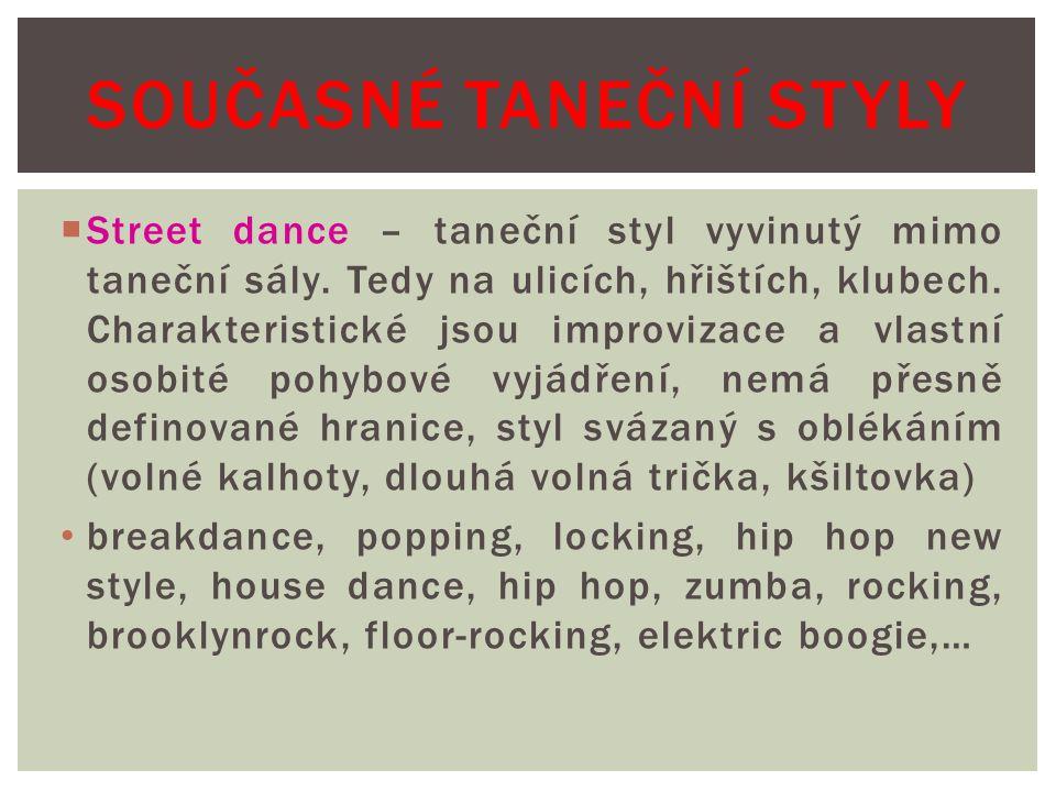 Současné taneční styly