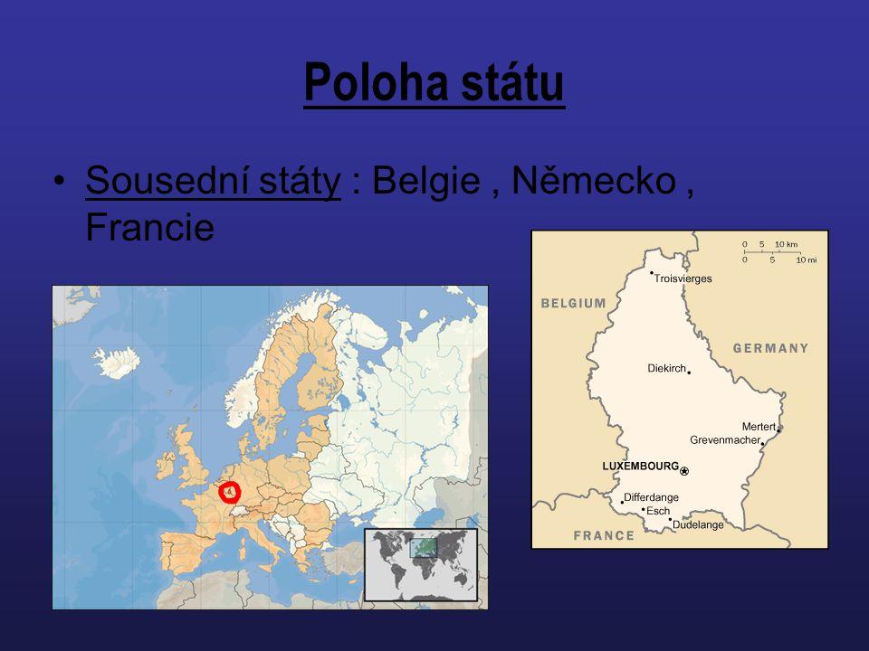 Poloha státu Sousední státy : Belgie , Německo , Francie
