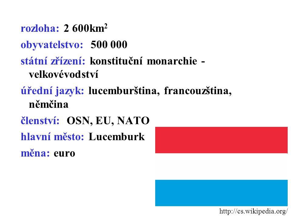státní zřízení: konstituční monarchie - velkovévodství