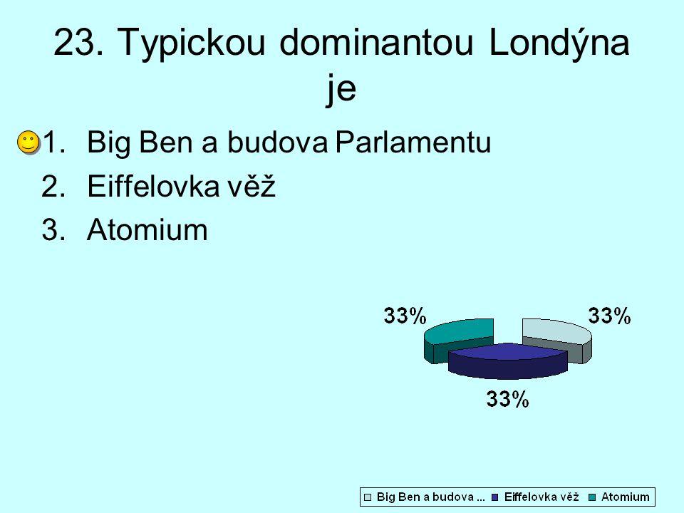 23. Typickou dominantou Londýna je