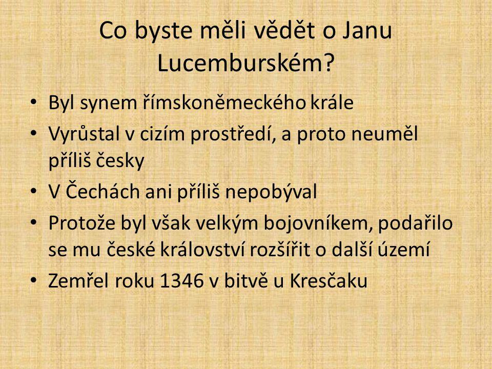 Co byste měli vědět o Janu Lucemburském