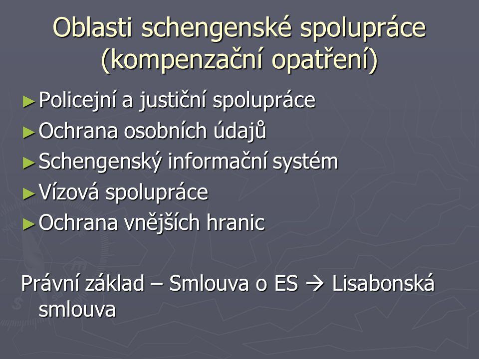 Oblasti schengenské spolupráce (kompenzační opatření)