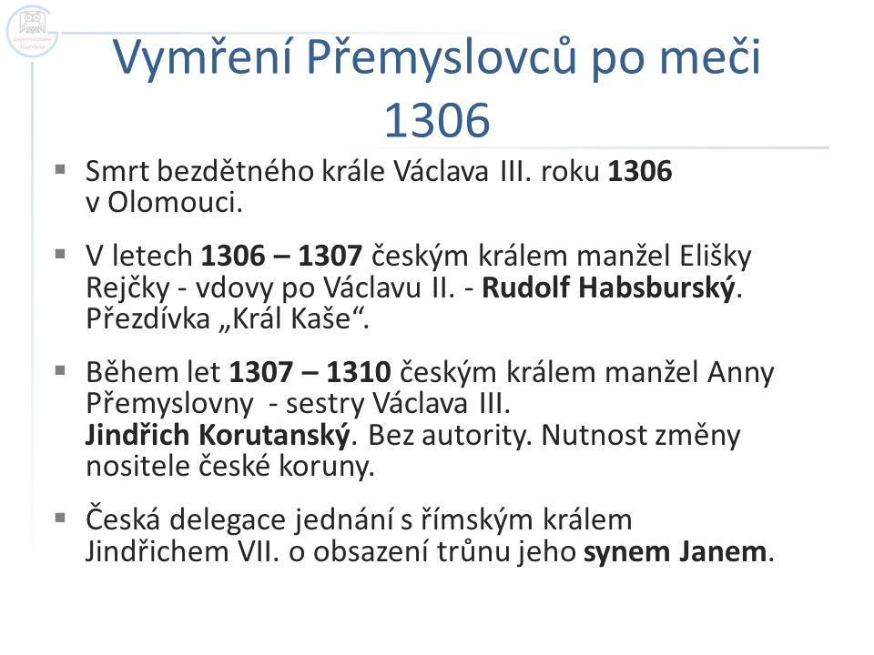 Vymření Přemyslovců po meči 1306
