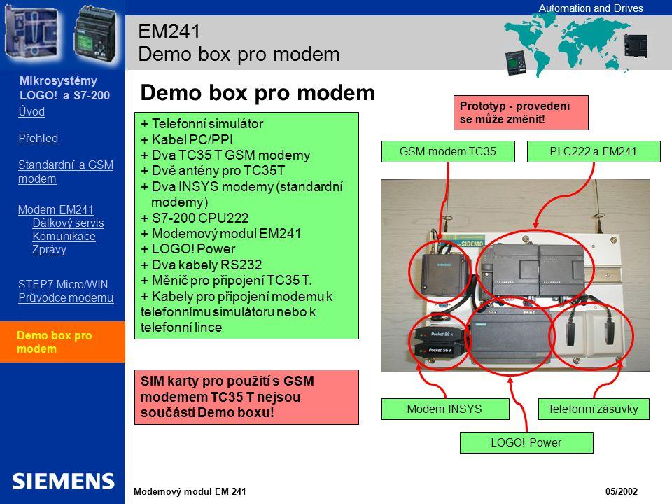 Demo box pro modem EM241 Demo box pro modem