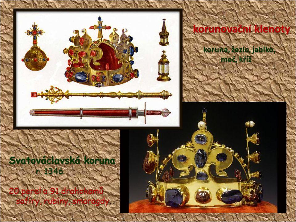 korunovační klenoty Svatováclavská koruna meč, kříž r. 1346