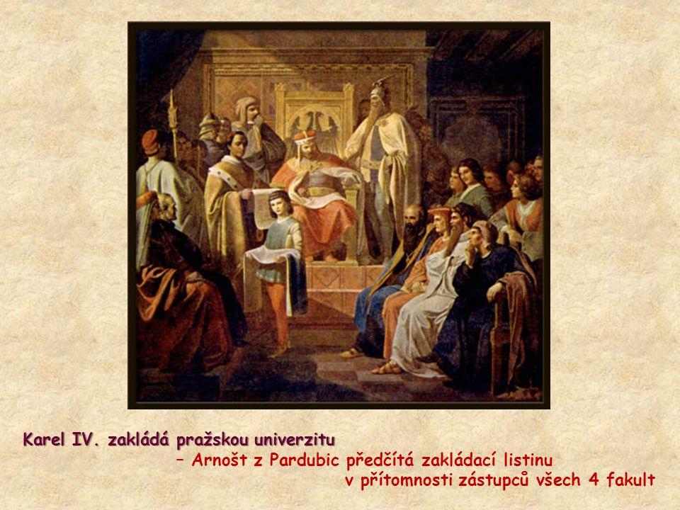 Karel IV. zakládá pražskou univerzitu