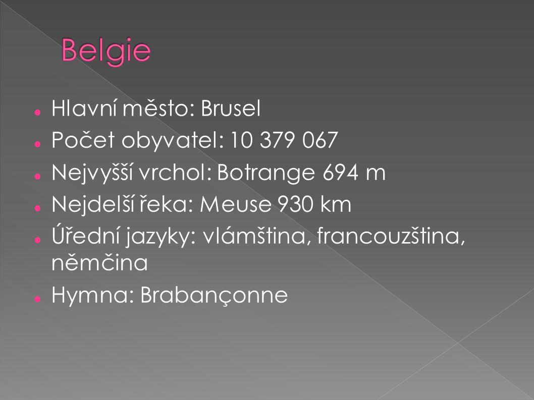 Belgie Hlavní město: Brusel Počet obyvatel: 10 379 067