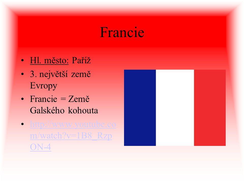 Francie Hl. město: Paříž 3. největší země Evropy