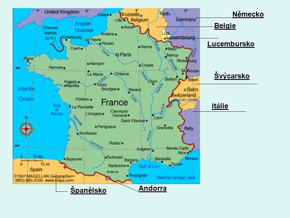 Německo Belgie Lucembursko Švýcarsko Itálie Andorra Španělsko