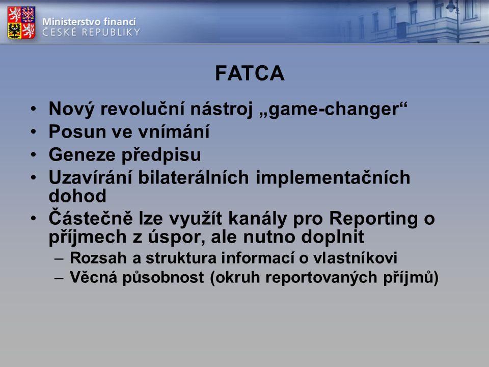 """FATCA Nový revoluční nástroj """"game-changer Posun ve vnímání"""