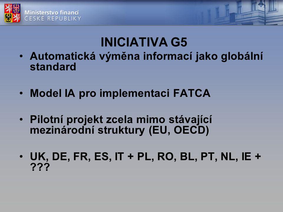 INICIATIVA G5 Automatická výměna informací jako globální standard