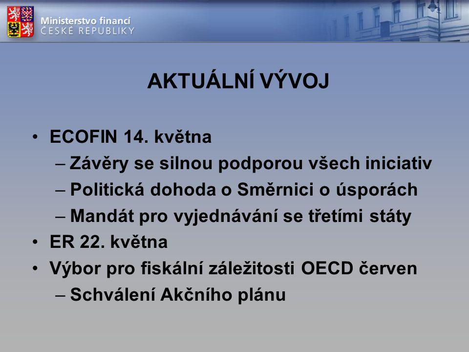 AKTUÁLNÍ VÝVOJ ECOFIN 14. května