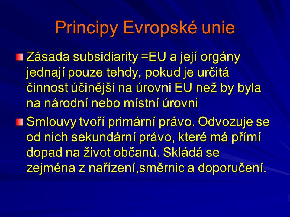 Principy Evropské unie