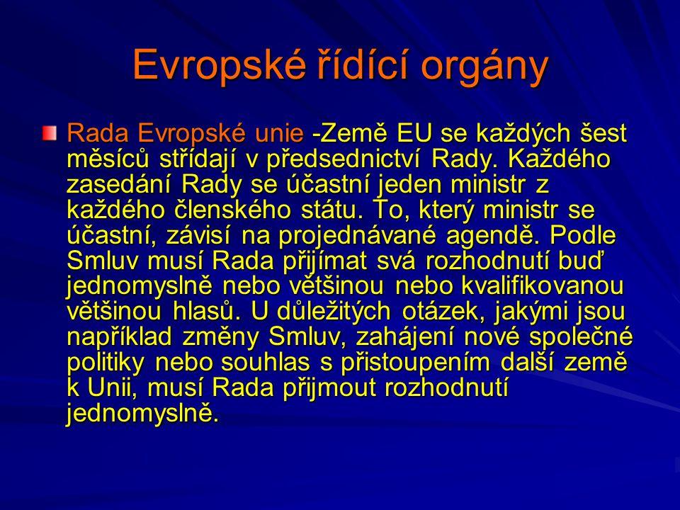 Evropské řídící orgány