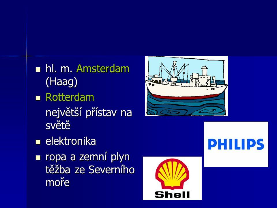 hl. m. Amsterdam (Haag) Rotterdam. největší přístav na světě.