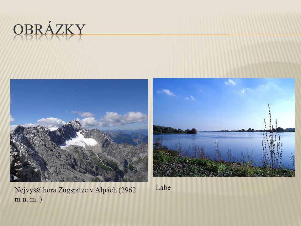 Obrázky Labe Nejvyšší hora Zugspitze v Alpách (2962 m n. m. )