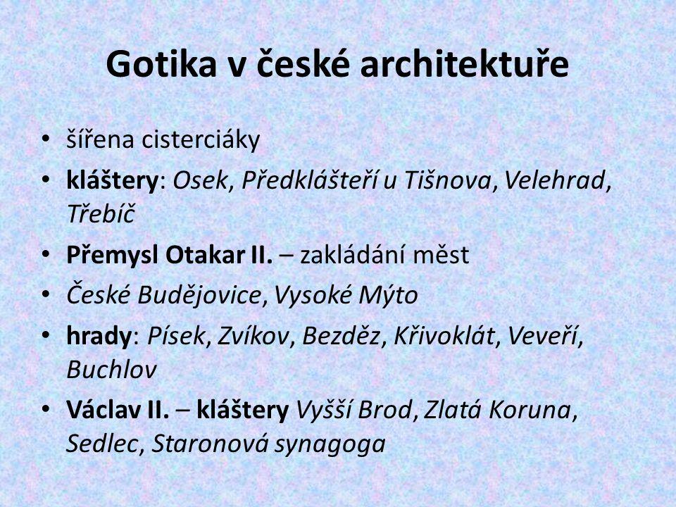 Gotika v české architektuře