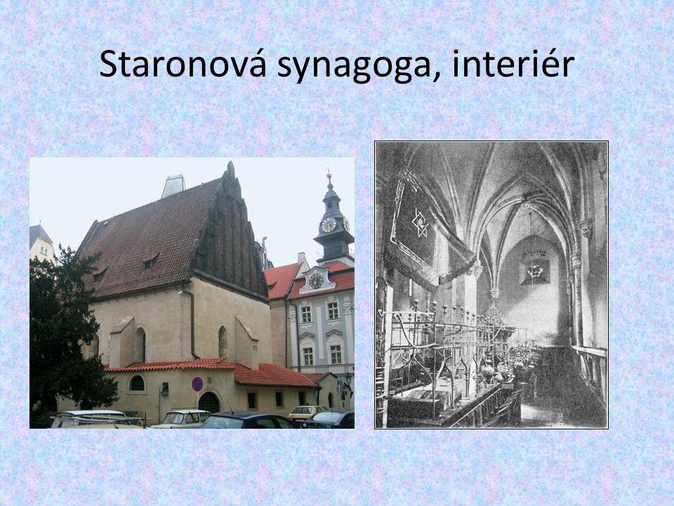 Staronová synagoga, interiér