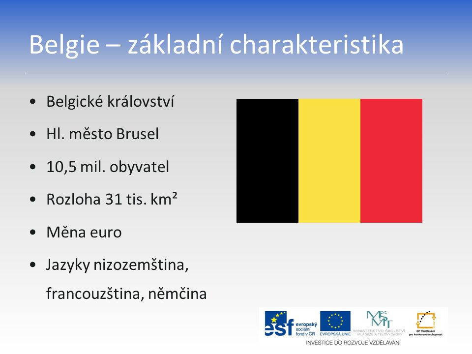 Belgie – základní charakteristika