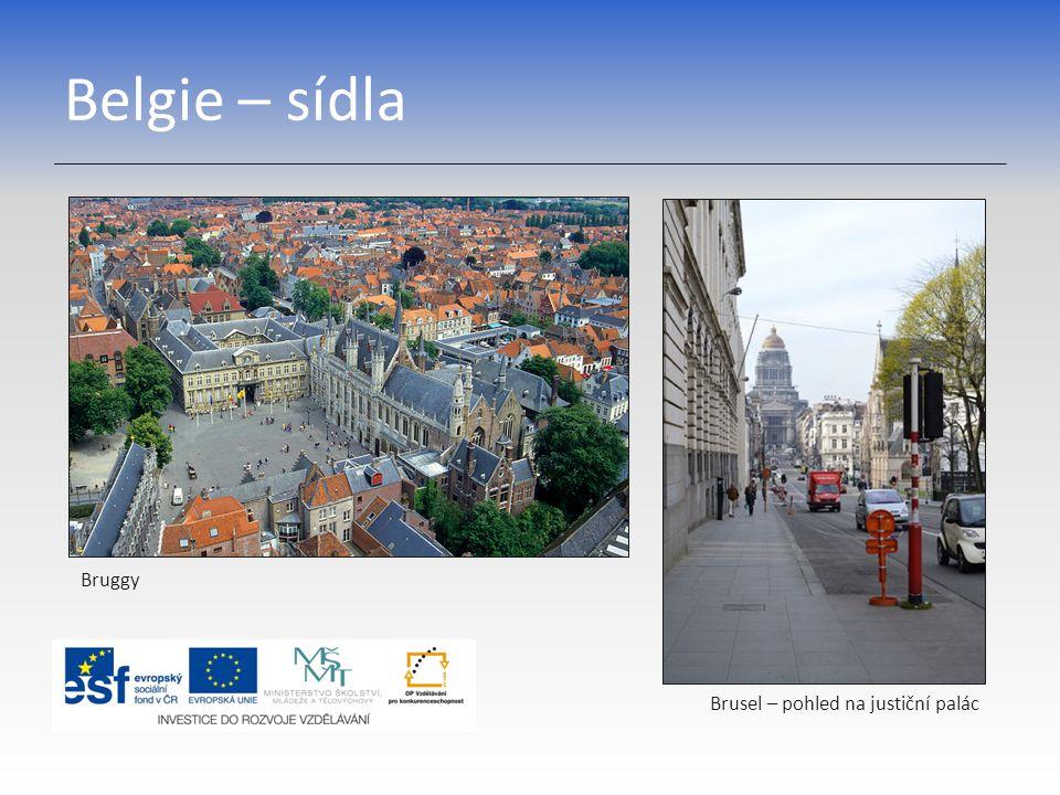 Belgie – sídla Bruggy Brusel – pohled na justiční palác