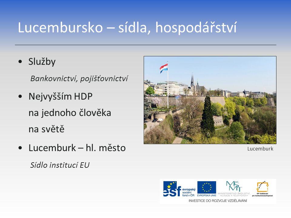 Lucembursko – sídla, hospodářství
