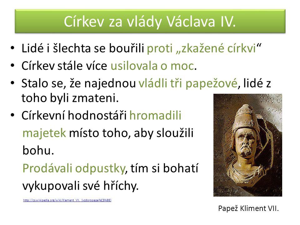 Církev za vlády Václava IV.