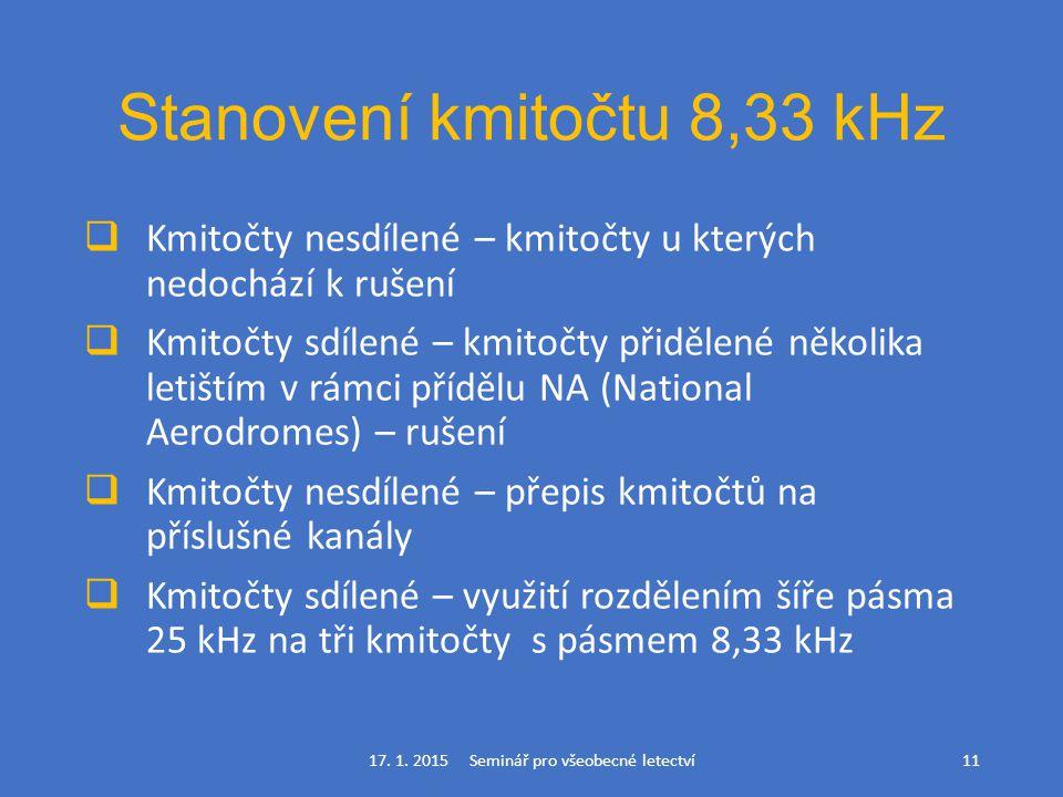 Stanovení kmitočtu 8,33 kHz