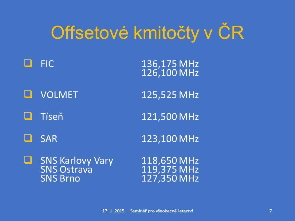 Offsetové kmitočty v ČR